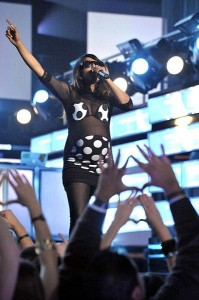 M.I.A. performing at the 51st Annual GRAMMY Award