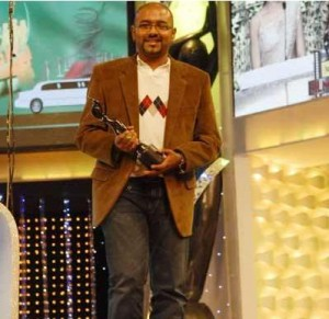 Benny Dayal after winning his Filmfare